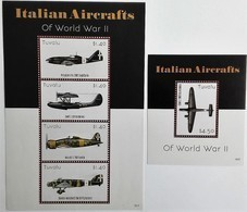 # Tuvalu 2015**Mi.2166-70 Italian Fighters From The Second World War , MNH [14;12] - Seconda Guerra Mondiale