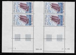 T.A.A.F.  ( TAPA - 389 )  1987  N° YVERT ET TELLIER  N° 97   N**  COIN DATE - Tierras Australes Y Antárticas Francesas (TAAF)