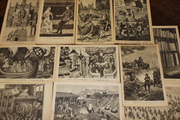 Petit Lot De 11 Cartes Fernan Nathan Editeur Paris Repro De Gravures, Dessins Anciens A Voir! - Postcards