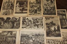 Petit Lot De 11 Cartes Fernand Nathan Editeur Paris Repro De Gravures, Dessins Anciens A Voir! - Postcards