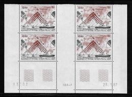 T.A.A.F.  ( TAPA - 393 )  1987  N° YVERT ET TELLIER  N° 99   N**  COIN DATE - Tierras Australes Y Antárticas Francesas (TAAF)