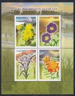 Uz 1331-34 Bl.90 Uzbekistan Usbekistan 2019 Mountain Flowers - Usbekistan