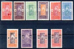 DAHOMEY - YT N° 60 à 69 - Neufs * - MH - Cote: 15,15 € - Dahomey (1899-1944)