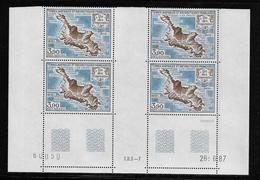 T.A.A.F.  ( TAPA - 394 )  1988  N° YVERT ET TELLIER  N° 100   N**  COIN DATE - Tierras Australes Y Antárticas Francesas (TAAF)
