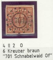 Bayern, Mi.-Nr.4IIo Mit Nr.-Stempel 701 Schnabelwaid Of - Pracht - Bayern (Baviera)