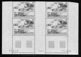 T.A.A.F.  ( TAPA - 398 )  1989  N° YVERT ET TELLIER  N° 104   N**  COIN DATE - Tierras Australes Y Antárticas Francesas (TAAF)