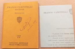 CATALOGO CAMPITELLI EDITORE FOLIGNO- ANNO IV DEL 1928 (10819) - Libri, Riviste, Fumetti