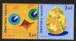 2001 Finland Stamp Pairs, Michel 1560-1 ** Easter - Finland