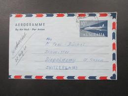 Australien 1960 Aerogramme Air Mail Stempel Padstow Nach Diepoldsau St. Gallen In Der Schweiz. Mit Inhalt - 1952-65 Elizabeth II : Pre-Decimals