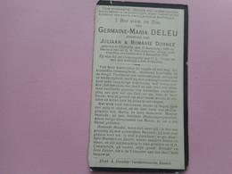 D.P.-GERMAINE-MARIA DELEU °EESSEN 27-11-1899+ALDAAR 3-8-1920 - Religion &  Esoterik