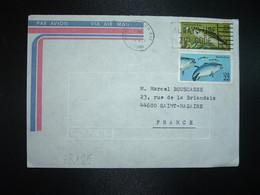 LETTRE TP USA TP POISSON LARGEMOUTH BATH 22 + BLUEFIN TUNA 22 OBL.MEC.30 NOV 1986 NORTH BAY - Fische