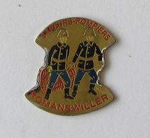 1 Pin's Sapeurs Pompiers De ROMANSWILLER (BAS RHIN-67) - Pompiers