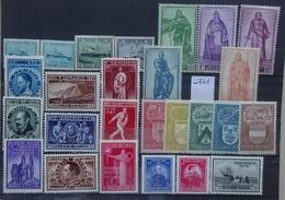 BELGIE   1946-47   Nr. 725-27 / 728-36 / 737-42 / 743-747 / 748 / 749-50 . Scharnier *   CW 40,00 - Neufs