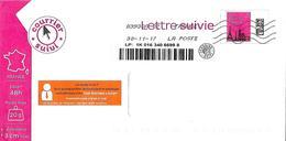 Lettre Suivie Prétimbrée Service Client Orange Vignette Illustrée Pub Orange Toshiba - Postwaardestukken