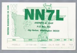 US.- QSL KAART. CARD. NN7L. ANDREW O. ISAR, GIG HARBOR, WASHINGTON, PIERCE COUNTY. WWDXC. - Radio-amateur