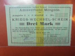 MENGEDE 3 MARK 1914 - [ 2] 1871-1918 : Impero Tedesco