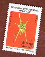 MADAGASCAR -  SG 562.563   -   1985 FLOWERS: ORCHIDS  -  USED° - Madagascar (1960-...)