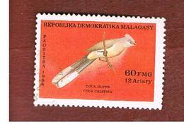 MADAGASCAR -  SG 603  -   1986 BIRDS: COUA CRISTATA  -  USED° - Madagascar (1960-...)
