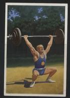 WW II Franck Sammelbild 10,5 X 7 Cm , Olympiade 1936 Berlin, S.3 Bild 4 : Sport ,Gewichtheben , Rudolf Ismayr, München - Olympische Spiele