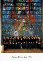 Sarrebourg - Sainte Geneviève 1995 : Les Gradés Devat Le Vitrail De Chagall La Paix - Chapelle Des Cordeliers - Sarrebourg