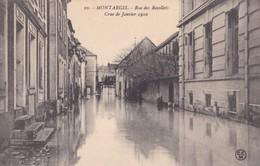 Montargis : Rue Des Recollets - Crue De Janvier 1910 - Montargis