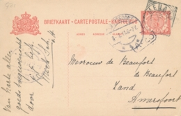 Nederlands Indië - 1911 - 5 Cent Cijfer, Briefkaart G21 Van VK MENADO Naar Amersfoort / Nederland - Nederlands-Indië