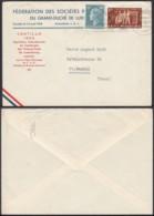 Luxembourg 1952 -Lettre Avec Nº447 Pour La Sarre (BE) DC3768 - Luxembourg