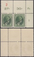 Luxembourg 1926 - Prifix Nº 5 Service 163 Xx Paire Avec Nº De Feuille  (BE) DC 3779 - Neufs