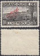 """Luxembourg 1926 - Prifix Service 148 X Variété """" N"""" Prolongé Dentelé 11 1/2  (BE) DC 3780 - Neufs"""