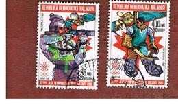 MADAGASCAR -  SG 621.625  -   1987  WINTER OLYMPIC GAMES   -  USED° - Madagascar (1960-...)