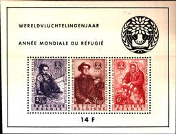 6741B) Belgio 1960 Mi. Bl. 26 Foglietto 100% Nuovo ** Anno Mondiale Del Rifugiato- MNH** - Blocchi 1924 – 1960