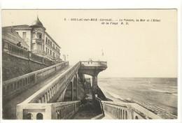 Carte Postale Ancienne Soulac Sur Mer - Le Ponton, La Mer Et L'Hôtel De La Plage - Soulac-sur-Mer