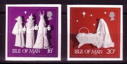 INSEL MAN MI-NR. 488-489 POSTFRISCH Selbstklebend - WEIHNACHTEN 1991 - Weihnachten
