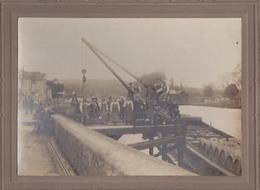 Photo Originale Circa1900 / Chargement Barriques De Vins Sur Une Péniche / à Localiser - Old (before 1900)