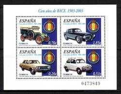 SPANIEN BLOCK 118 ** 100 JAHRE KÖNIGLICH SPANISCHER AUTOMOBILCLUB 2003 - Blocks & Kleinbögen