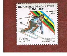 MADAGASCAR -  SG 680  -   1988  WINTER OLYMPIC GAMES: SLALOM   -  USED° - Madagascar (1960-...)