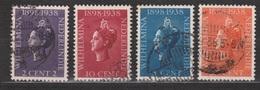 Nederlands Indie 235 236 237 238 Used ; Koningin, Queen, Reine, Reina Wilhelmina 1938 Netherlands Indies PER PIECE - Nederlands-Indië