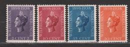 Nederlands Indie 235-238 MLH ; Koningin, Queen, Reine, Reina Wilhelmina 1938 Netherlands Indies PER PIECE - Nederlands-Indië