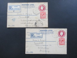 GB 1933 Registered Letter Oxted Surrey Nach Canstatt Württemberg Fee Paid. 2 Einschreiben Mit Zusatzfrankatur - 1902-1951 (Könige)