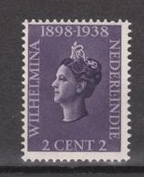 Nederlands Indie 235 MLH ; Koningin, Queen, Reine, Reina Wilhelmina 1938 Netherlands Indies PER PIECE - Nederlands-Indië