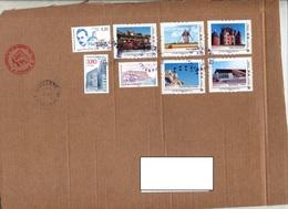Devant De Paquet Cachet Brunstatt Sur Timbre à Moi  Chateau Moulin  Etc - Postmark Collection (Covers)