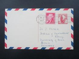 USA 1962 Ganzsache Stempel College Alaska Institute Of Marine Science - Uni Bonn - Covers & Documents