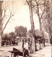 AK-1658/ Nizza Bahnhof Avenue  Frankreich Stereofoto V Alois Beer ~ 1900 - Stereo-Photographie