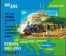 Romania MNH SS - Trains