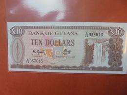 GUYANE 10$ 1966-92 PEU CIRCULER/NEUF - Guyana