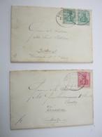 1902/04 ,  Kiel - Lübeck , Klarer Stempel Auf  2 Briefen - Ungebraucht