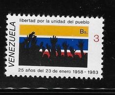 Venezuela 1983 25th Anniversary Of 1958 Reforms MNH - Venezuela