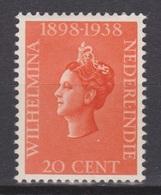 Nederlands Indie 238 MLH ; Koningin, Queen, Reine, Reina Wilhelmina 1938 Netherlands Indies PER PIECE - Nederlands-Indië
