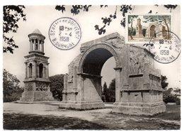 BOUCHES Du RHONE - Dépt N° 13 = St REMY De PROVENCE 1958 = CARTE MAXIMUM Sur N° 1130 GLANUM - Maximumkarten