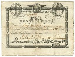 25 BAJOCCHI MONTE DI PIETÀ REPUBBLICA ROMANA STATO PONTIFICIO 12/07/1798 MB - Italia
